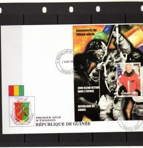 Guinea 1998 John GLENN Returns to Space SS  (1) IMPERFORATED  F.D.C. YT # 158