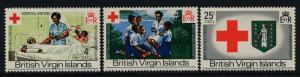 Virgin Islands 226-8 MNH Red Cross, Medicine, Crest