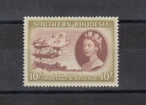 Southern Rhodesia 1953 10/- SG91 MNH J9633