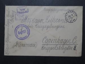 Germany 1916 Colberg POW Cover to Denmark - Z9900