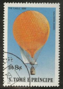 St Thomas & Prince Scott 559 Used CTO hot air balloon stamps 1979