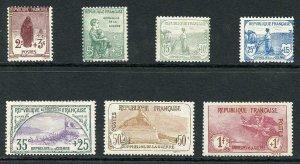 France SG370/76 1917 War Orphans fund part set to 1F Fresh M/M