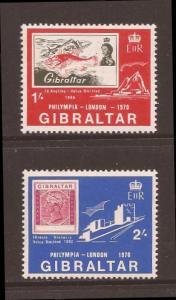 Gibraltar scott 238-39 m/nh stock #25655