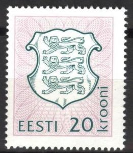 Estonia 1993 Definitive issue State Arms 20 Kr. MNH