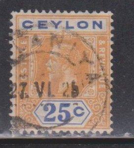 CEYLON Scott # 238 Used - KGV Definitive Watermark 4