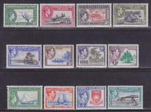 Gilbert & Ellice Is Scott #'s 40-51 VF never hinged nice colors cv $ 70