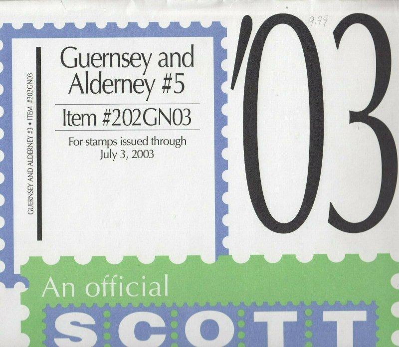 Scott Guernsey& alderney Supplement #5 2003