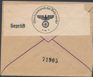 1940 Jakhroma Russia USSR Censored cover to Czechoslovakia Bohemia