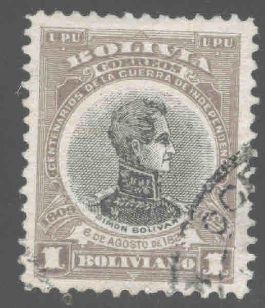 Bolivia Scott 88 Used 1909 stamp
