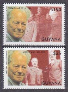 1993 Guyana 4225-4226 Nobel laureates / Willy Brandt