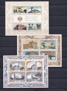 South West Africa SWA 1977-1981 - Historic Houses MNH Sheets # 410a,422a,482a