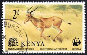 Kenya # 91 used ~ 2sh Hunter's Hartebeest
