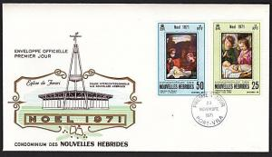 NEW HEBRIDES (French) 1971 Christmas commem FDC............................55070