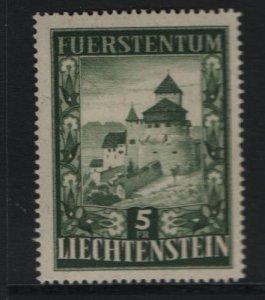 LIECHTENSTEIN 264 Hinged, 1952 Vaduz Castle