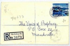 Jamaica Registered *Old Harbour Bay* CDS 1965 Cover RADIO {samwells-covers} CS12