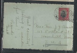 CHILE  (P3108B)   1912    12C ON PPC MARITIME CANCEL TO USA