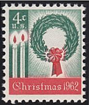 United States # 1205 mnh ~ 4¢ Christmas, Wreath, Candles