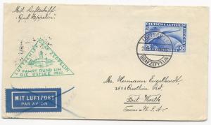 Germany Scott #C38 on Graf Zeppelin Drop Cover Helsinki to USA Sept 24, 1930