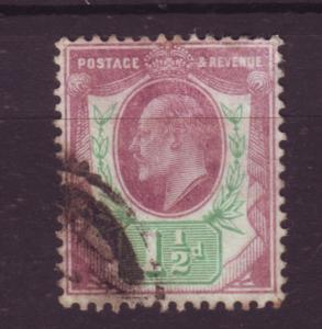 J19678 Jlstamps 1902-11 great britain used #129 king