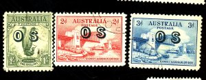 AUSTRALIA #O12-4 USED FVF Cat $83
