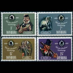 BOTSWANA 1970 - Scott# 62-5 Dickens Set of 4 NH
