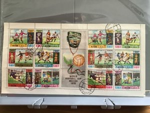 Ras Al Khaima Mexico World Football  Cup 1970 cancelled  stamps sheet  R27550