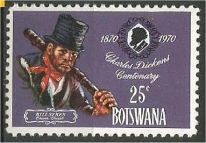 BOTSWANA, 1970, MNH 25c, Charles Dickens Scott 65