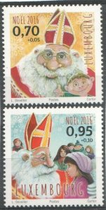 2016   LUXEMBOURG - SG:2107/8 -CHRISTMAS -  UNMOUNTED MINT