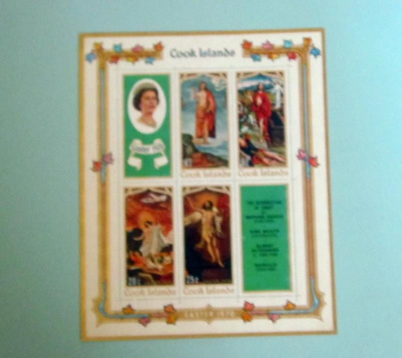 Cook Islands - 276A, MNH S/S, Complete. Christmas Paintings. SCV - $1.60