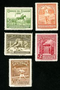 Ecuador Stamps # C65-9 VF OG LH Set of 5 Scott Value $45.85