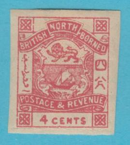 NORTH BORNEO 39 IMPERF  MINT HINGED OG *  NO FAULTS VERY FINE !