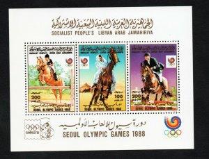 1988- Libya- Olympic Games - Seoul, South Korea- Riding- Horse- Block - MNH**
