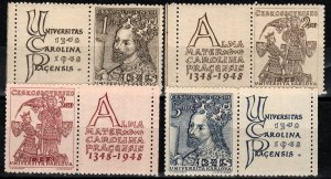 Czechoslovakia #346-9 MNH With Labels CV $4.50  (X272)