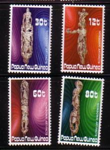 Papua New Guinea Sc632-5 1985 Funeral Totem stamps mint NH