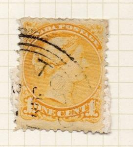 Canada 1870s Small Head QV Early Issue Fine Used 1c. 156252