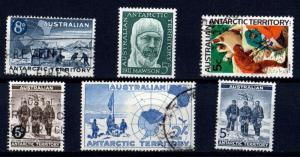 Australia Antarctic 1957-68 Selection 6 different scv $5.60 less 50%=$2.80 BIN