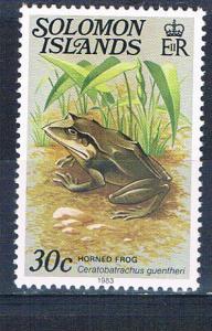 Solomon Islands 407 MNH Horned frog 1979 (S0993)