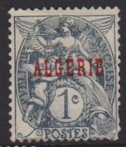 Algeria Sc#1 Unused Thinned