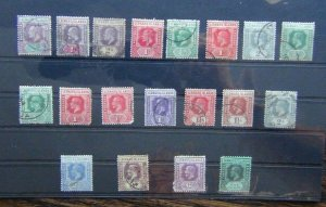 Leeward Islands KEVII to KGV range with vales to 1s poor to fine used