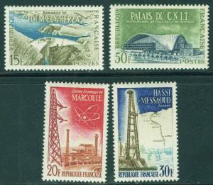 FRANCE Scott 920-3, Yvert 1203-6 MH* 1959 set