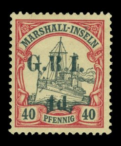 German Colonies - NEW BRITAIN G.R.I. Marshall Is 4d/40pf lake Sc# 36 mint MNH VF