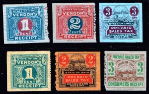 US STAMP BOB STATE OHIO TAX PAID STAMP COLLECTION LOT #T1