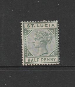 St Lucia 1891/8 Die 2, 1/2d MM SG 43