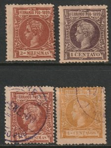 Fernando Po Sc 45,49,51,52 from set used/MH