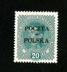 Poland Stamps # 57 Superb OG LH Scott Value $300.00