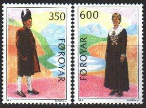 Faroe Islands. 1989. 182-83. National costumes. MNH.