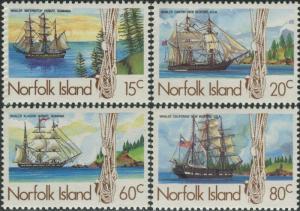 Norfolk Island 1985 SG360-363 Whaling Ships set MNH