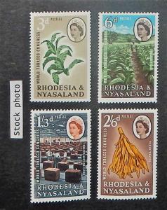 Rhodesia & Nyasaland 184-87. 1963 Tobacco, NH