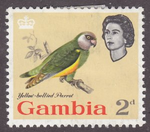 Gambia 178 Yellow-Bellied Parrot 1963