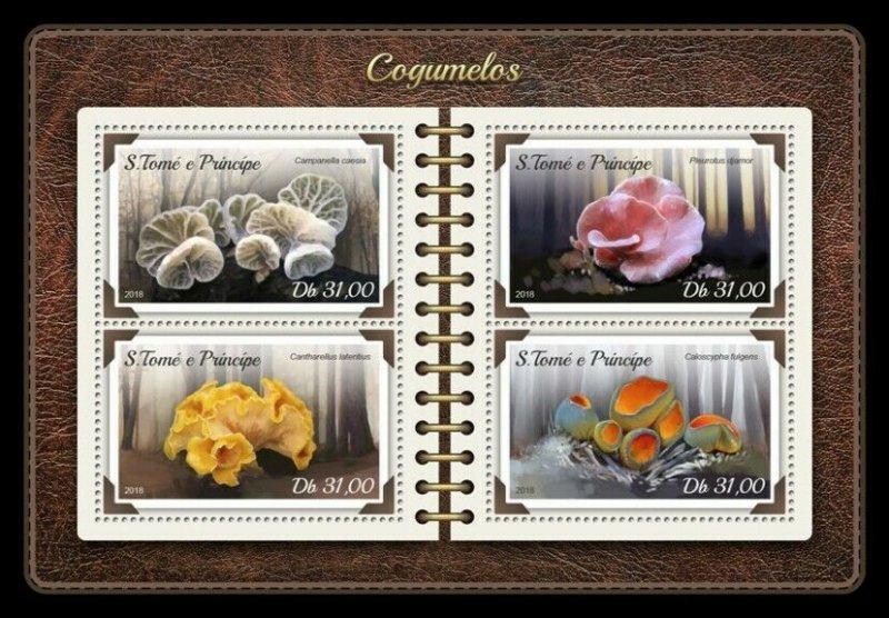 HERRICKSTAMP NEW ISSUES ST. THOMAS Mushrooms Sheetlet